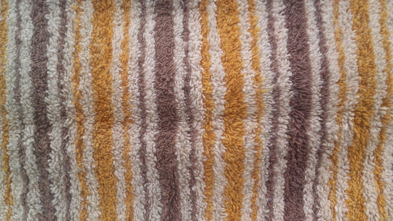 Pile Knot Rug  Orange, Brown Morocco
