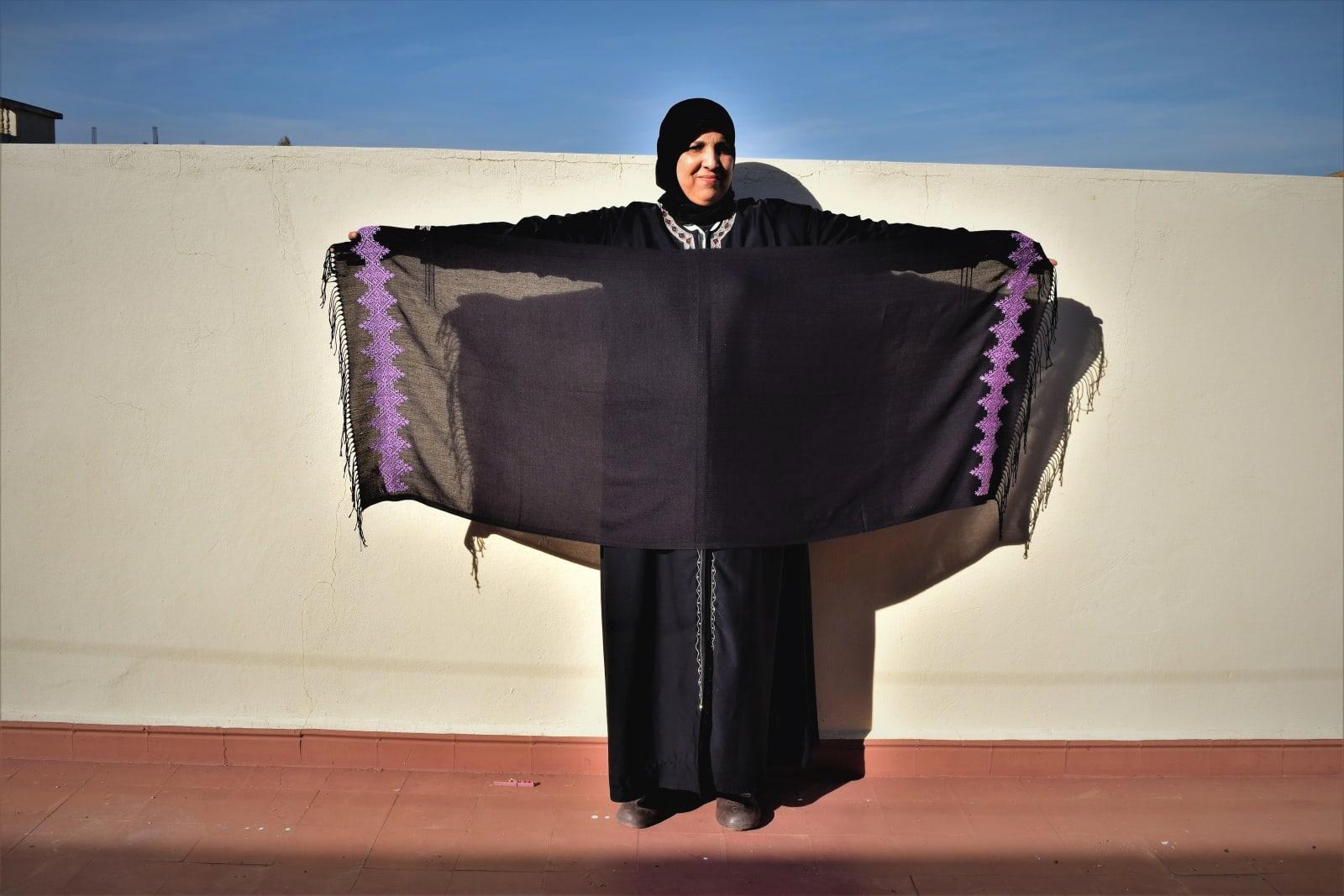 Scarf  Purple, Black Morocco