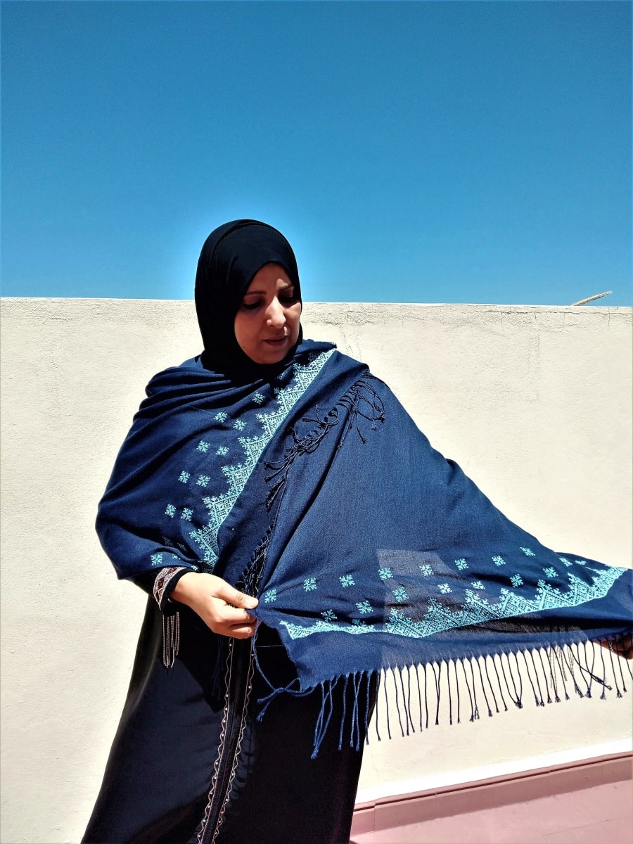 Scarf  Light Blue, Blue Morocco