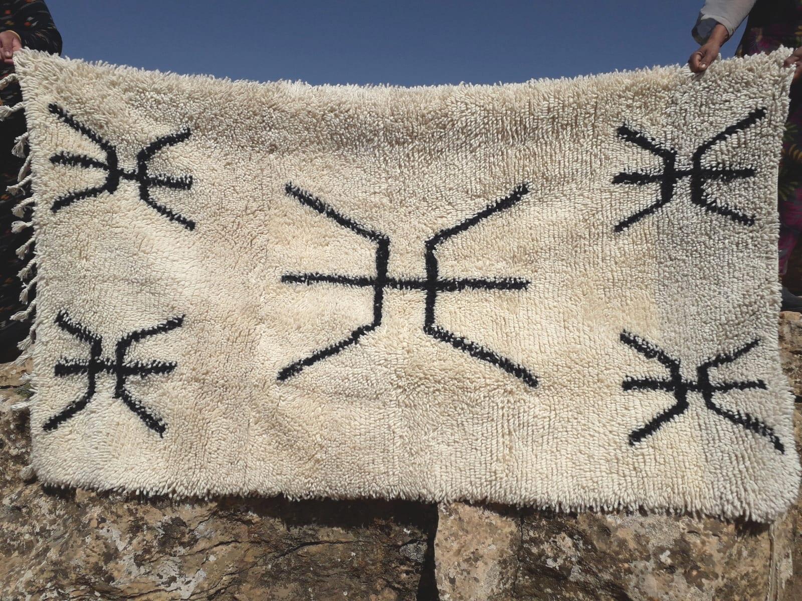 Carpet Assouf Tadout Black, White Morocco