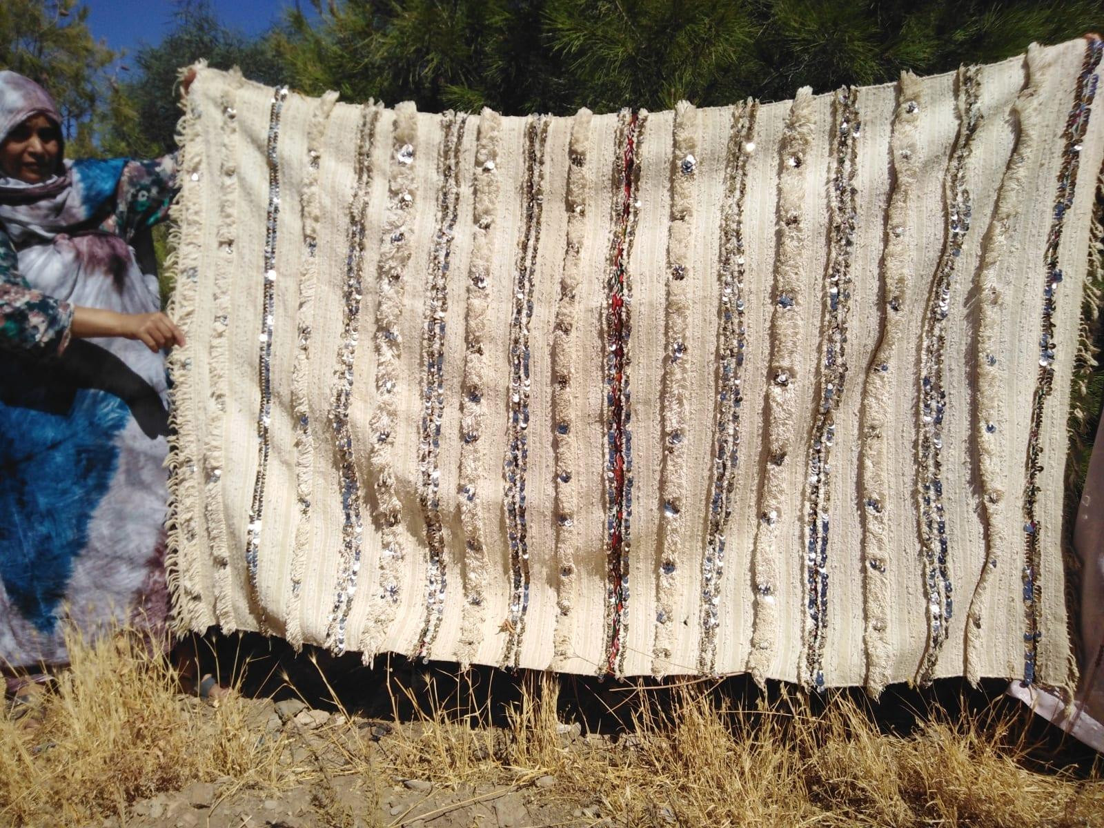 pillow Sda and Kotan Red, White Morocco