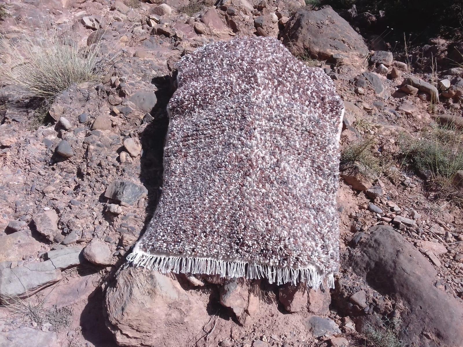 Beni Ourain Wool String Brown, Grey Morocco