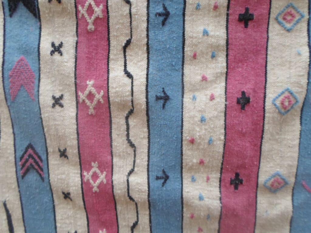 Flatweave Cotton Warp Colored Morocco
