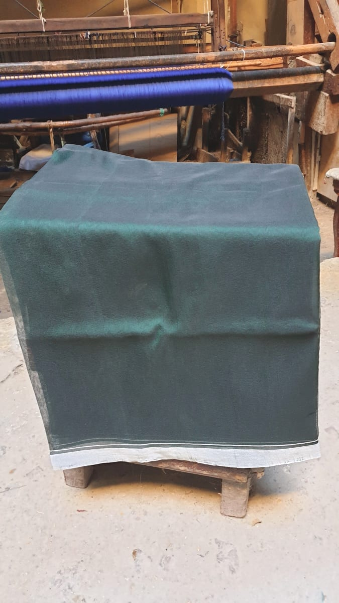 Fabric  Green, Black Morocco