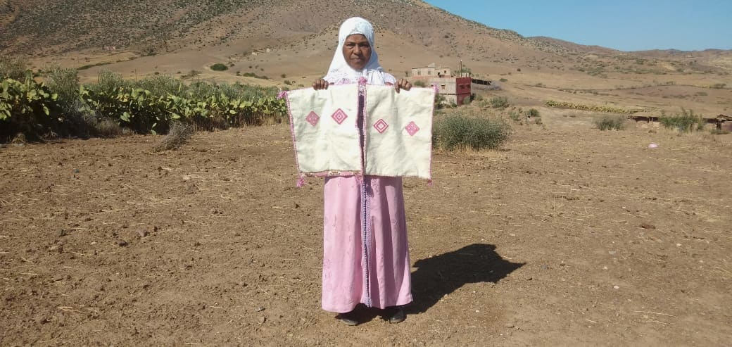 Pillow Cotton and Tadout - Wool Colored Morocco