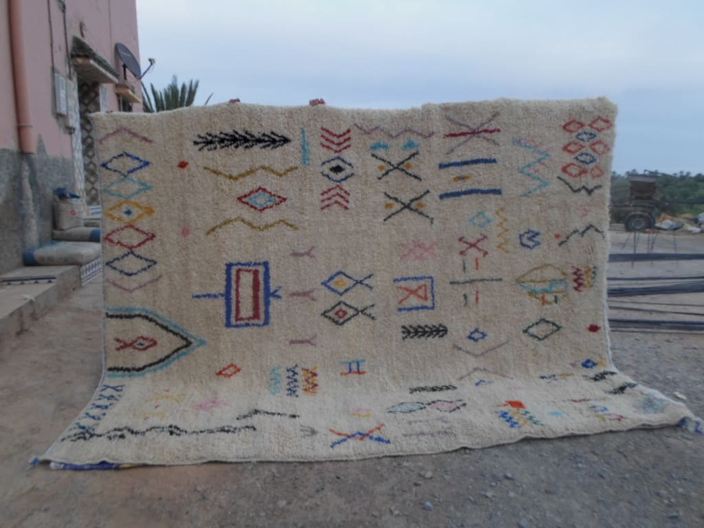 Pile Knot Rug  Colored Morocco