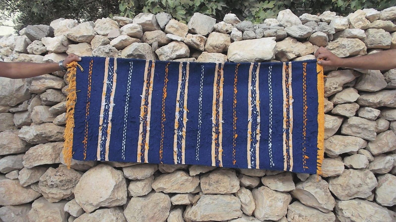 Hanbel  Sedda  and Wool Blue, Yellow Morocco