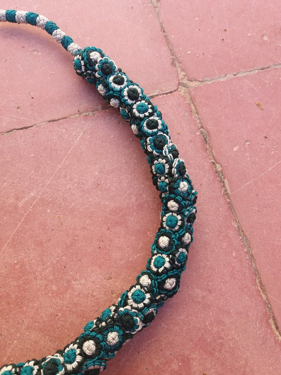 Cluster Necklace  Green, Grey Morocco