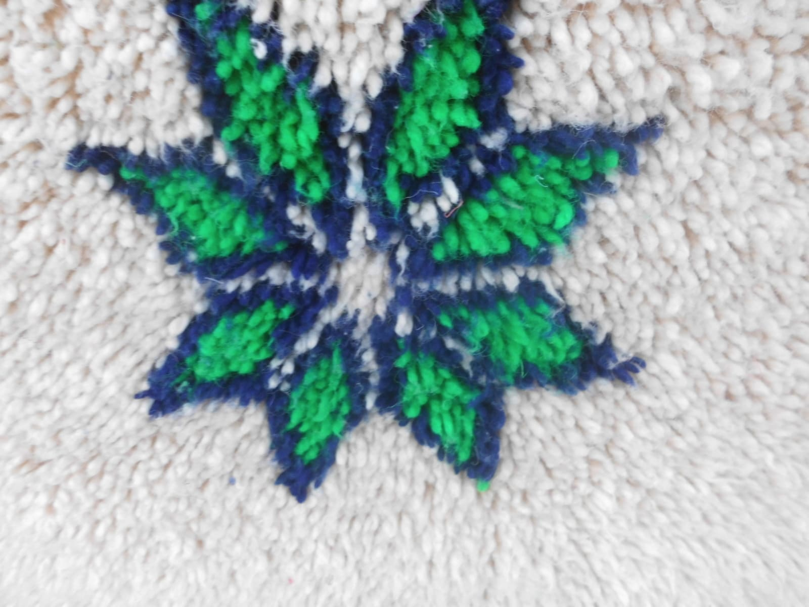 Pile Knot Rug  Blue, Green Morocco