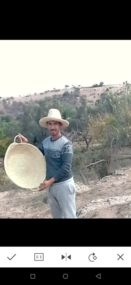 Nesting Baskets Palm Rope White Morocco
