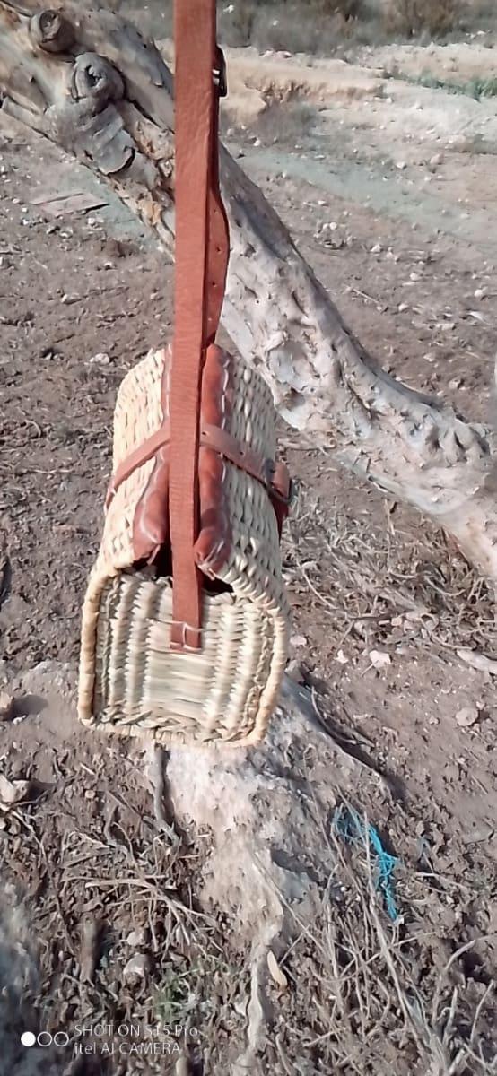 Keystone Basket Palm Rope Brown, White Morocco