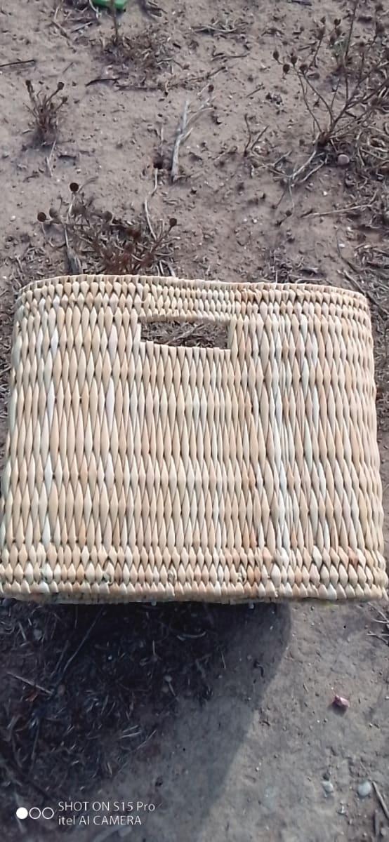 Market Tote Palm Rope White Morocco