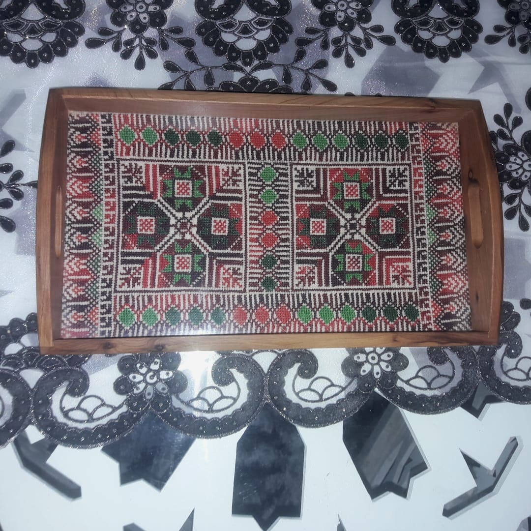 Serving Tray Acrylic Thread Colored Morocco