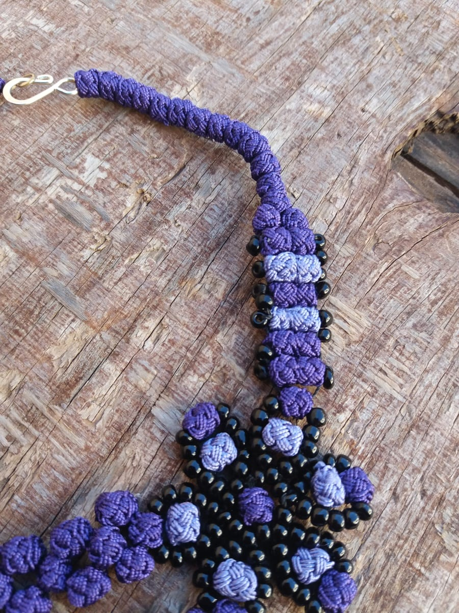 Multistrand Necklace  Purple Morocco
