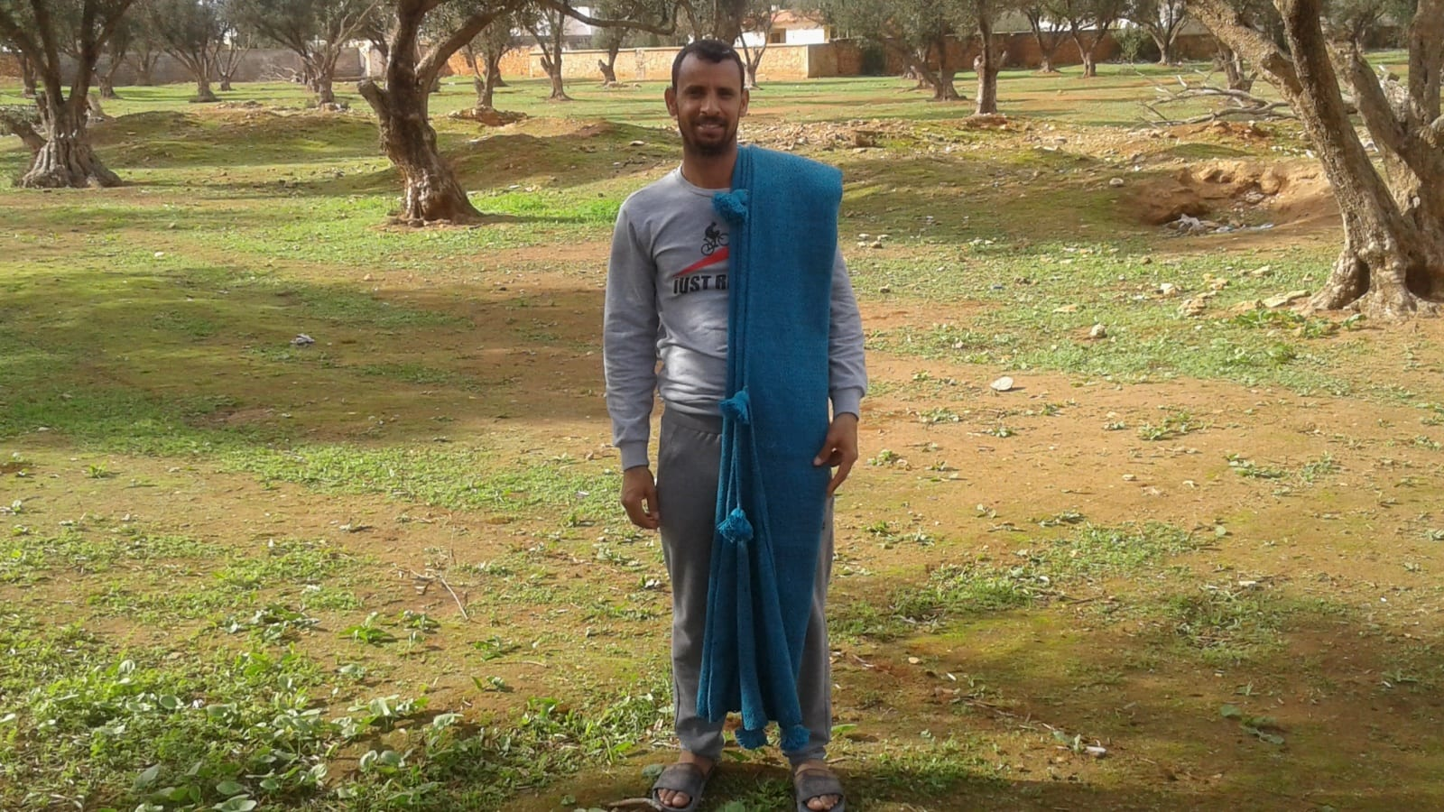 tawel Cotton and weft thread  Light Blue Morocco