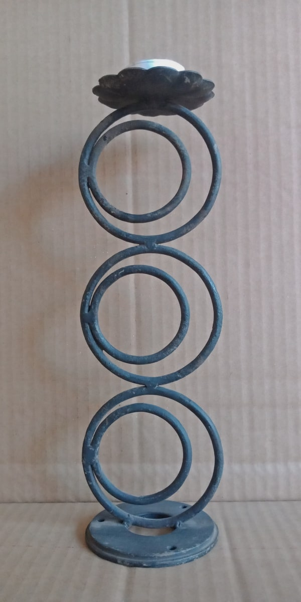 Candle sconce Metal rod Black Morocco