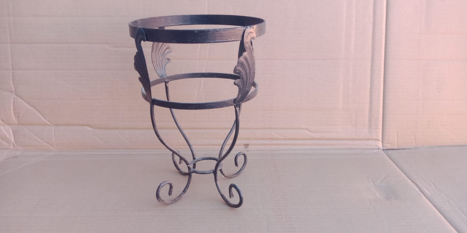Plant pot holder Metal rod Black Morocco