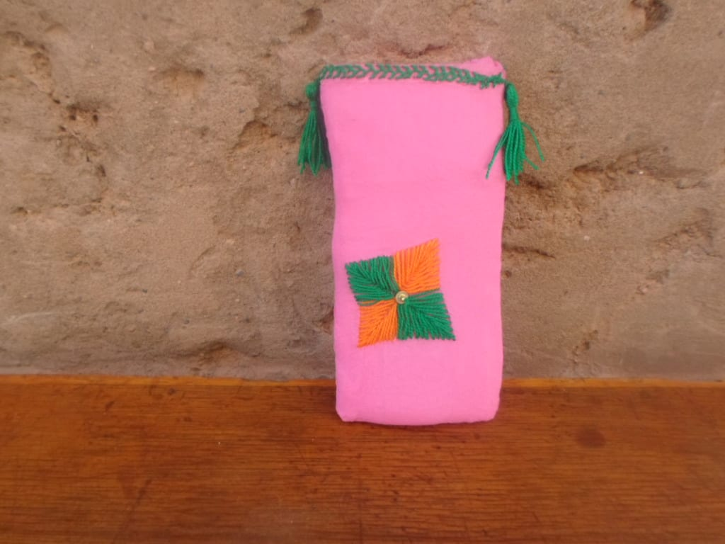 Phone Pouch  Green, Orange Morocco