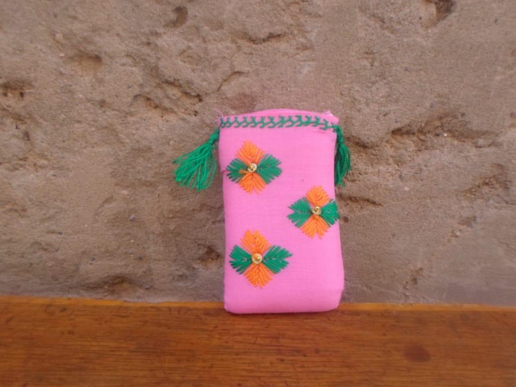 Tahroit Assorted Yarns Green, Orange Morocco