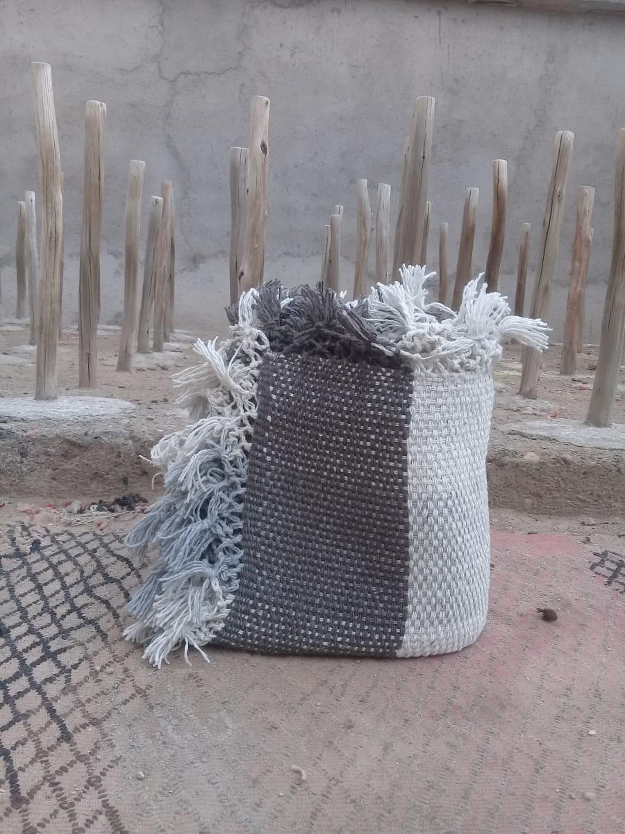 Blanket Synthetic Wool Brown, Grey Morocco