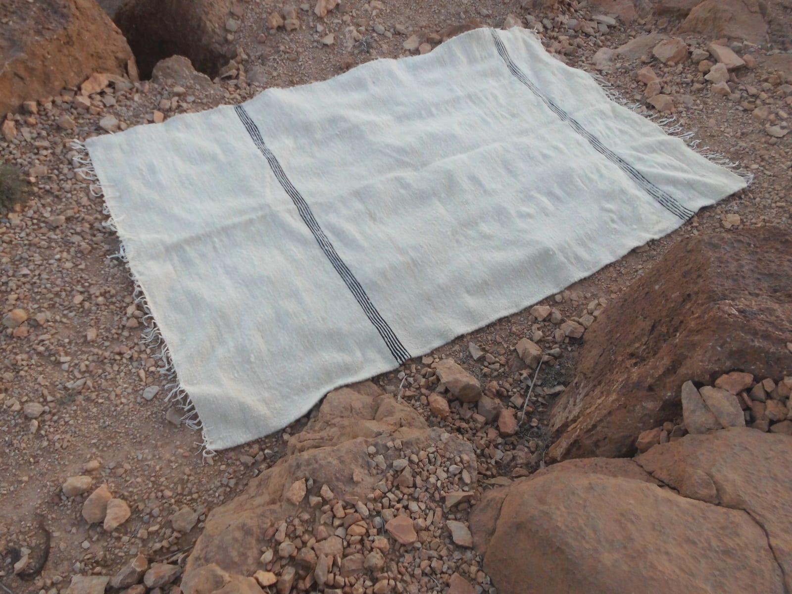 Flatweave Rug  Grey, White Morocco
