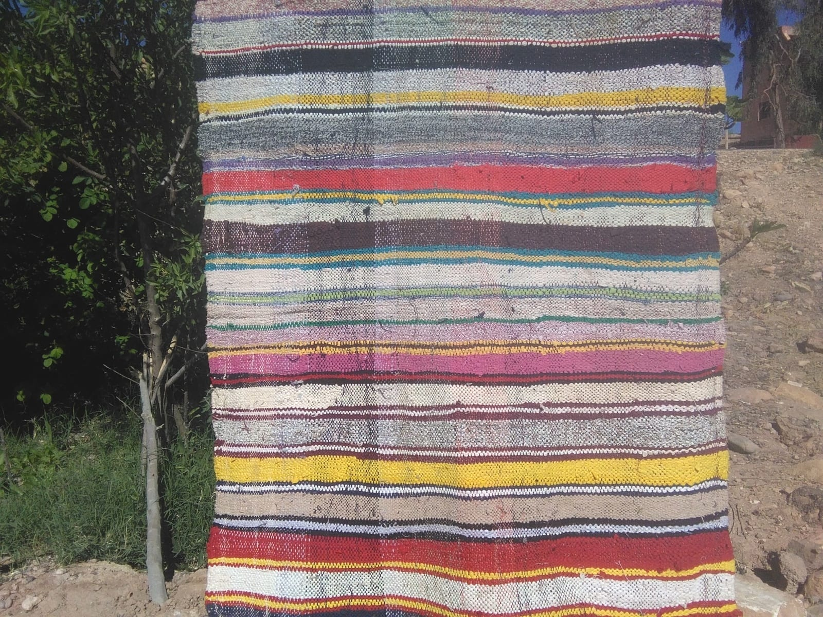 Boucherouite Up Cycled Thread  Colored Morocco