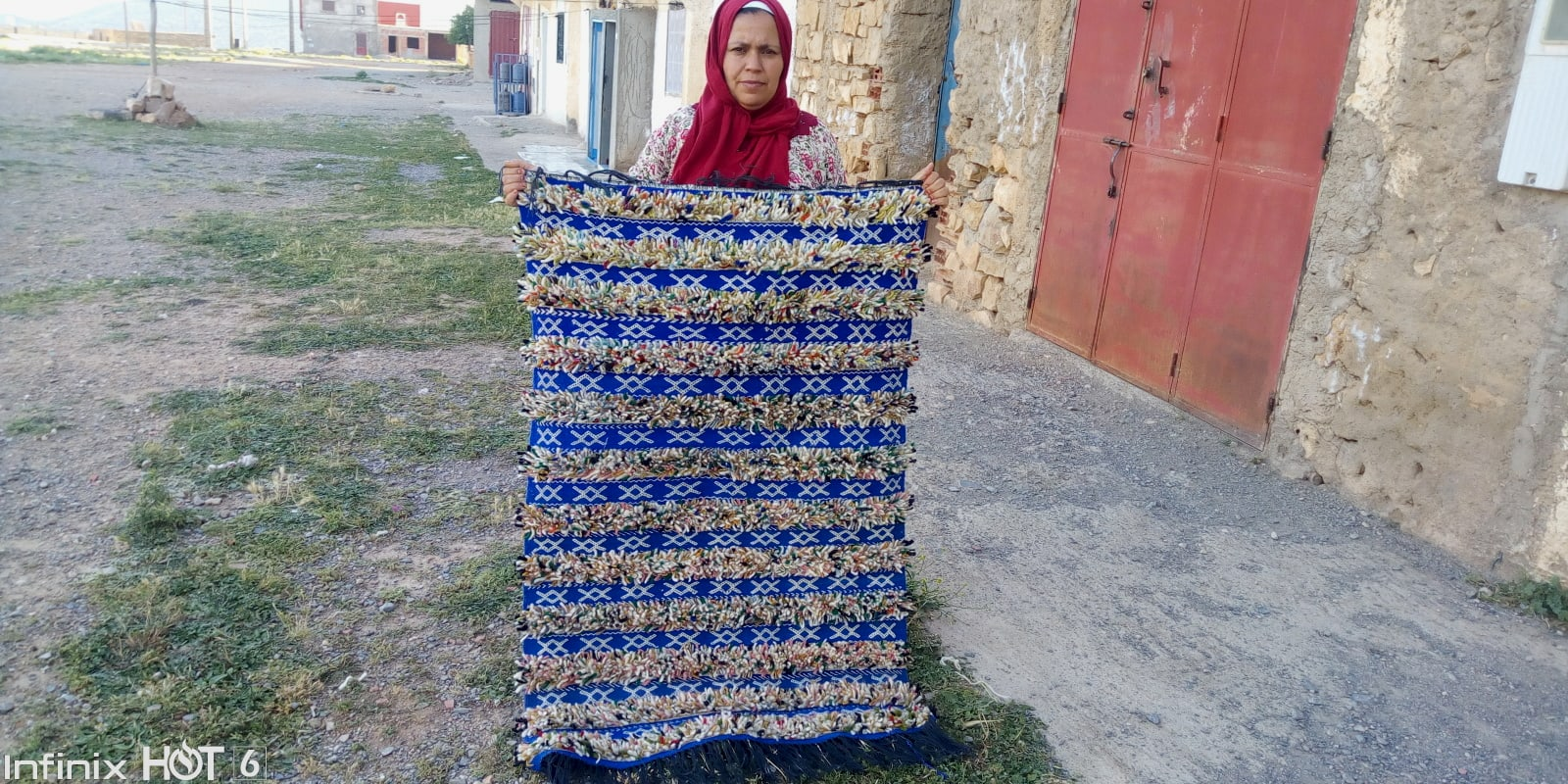 Flatweave Cotton Warp and Wool Colored Morocco