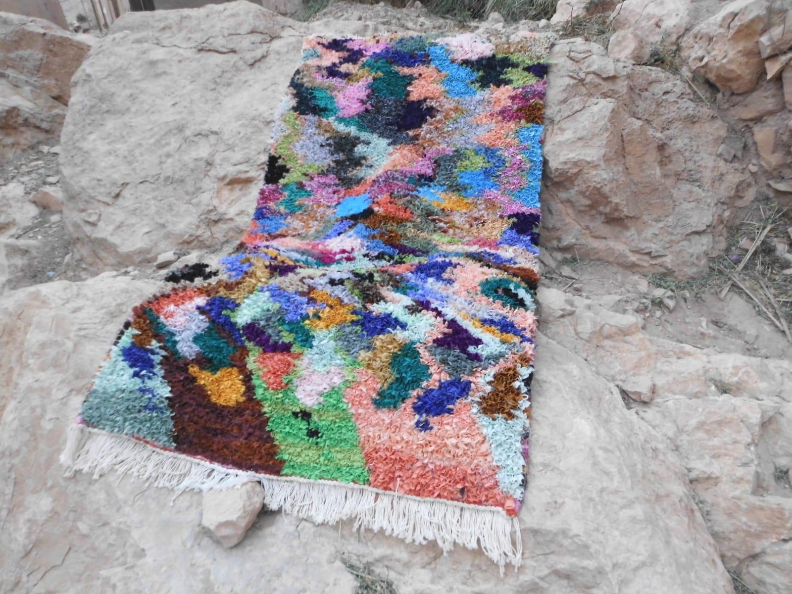 Boucherouite Cotton String Colored Morocco