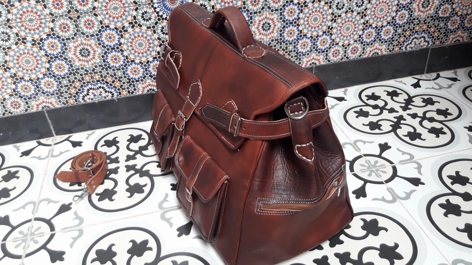 bag leather and Sabra silk Brown Morocco