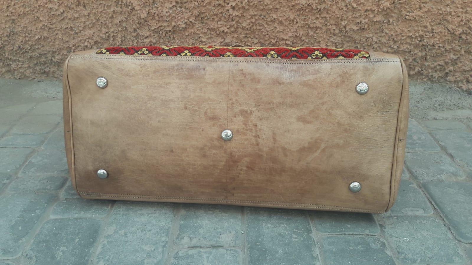 bag leather and Sabra silk White Morocco
