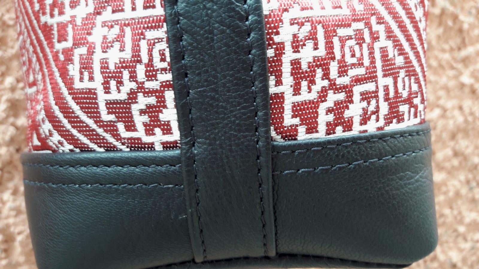 bag leather and Sabra silk Red, Black Morocco