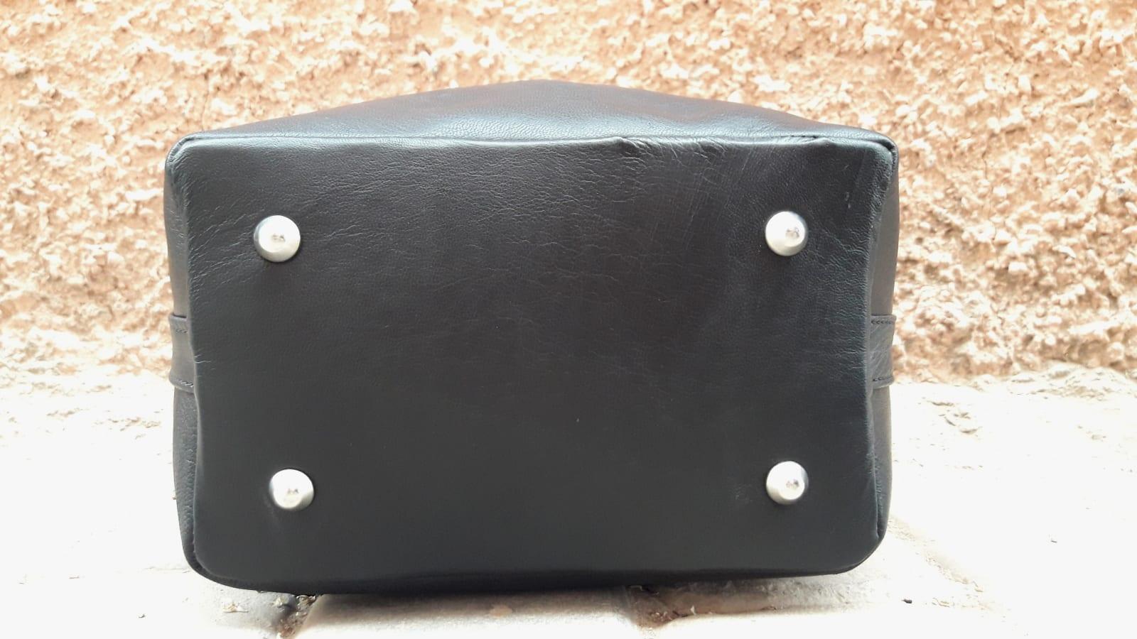 bag leather and Sabra silk Green, Black Morocco