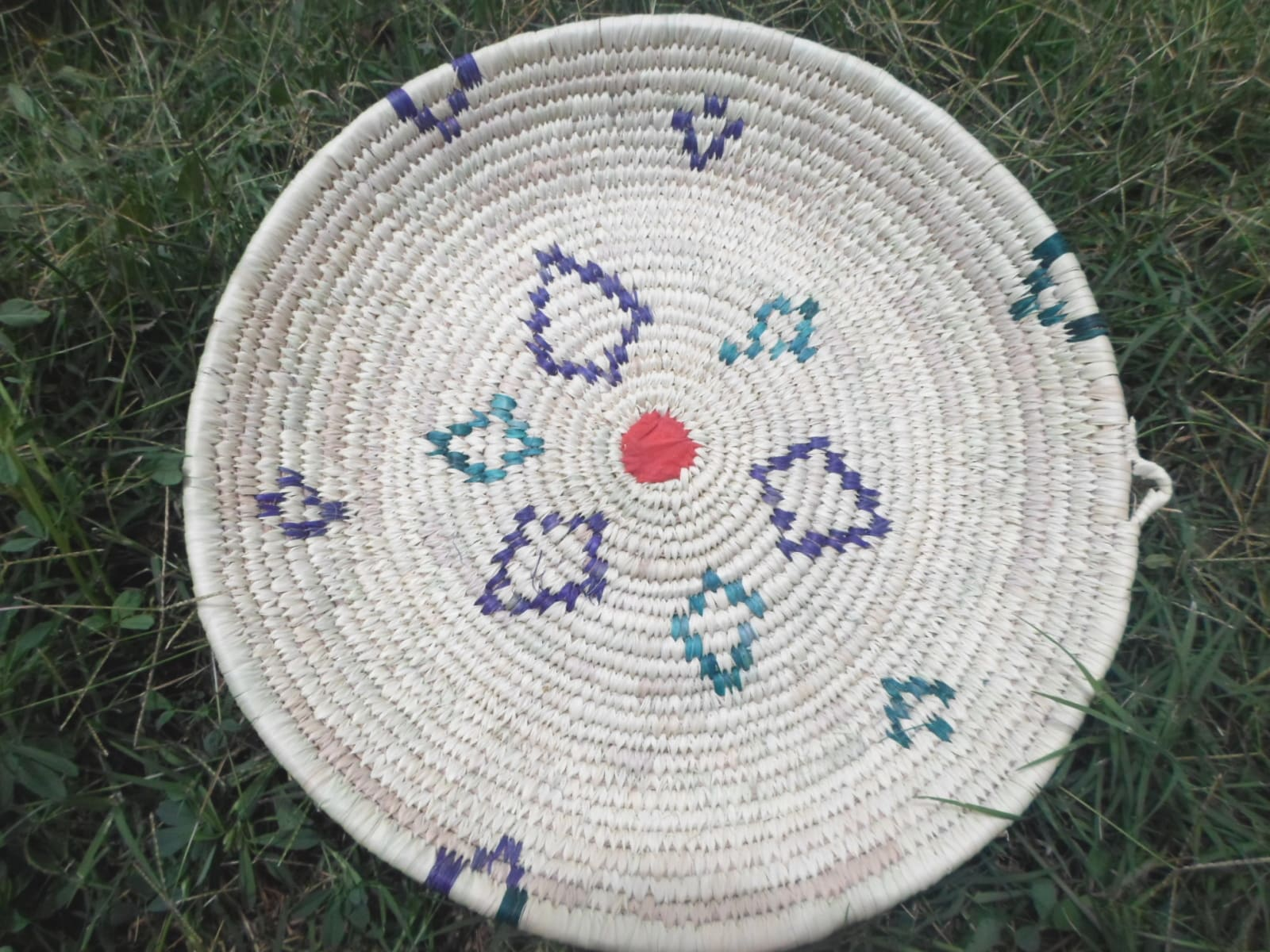 Basket  Purple, Light Blue Morocco