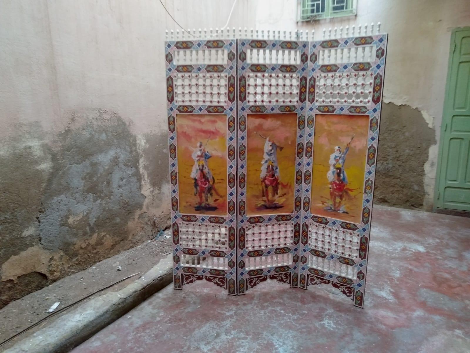 Wood Screen  Colored Morocco