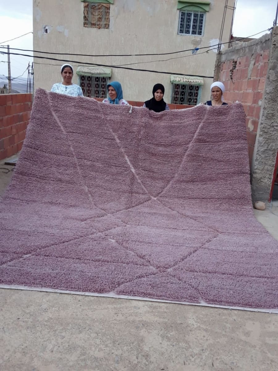 Beni Ourain the Warp and Wool Pink Morocco
