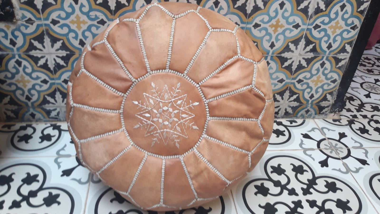 Pouf  White Morocco