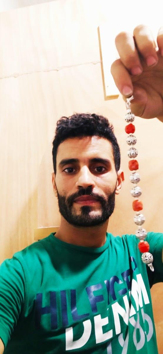 Bracelet  Red, Black Morocco