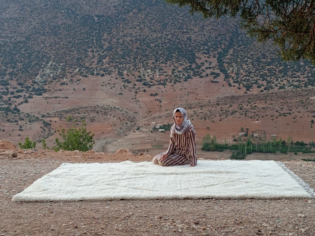 Beni Ourain the Warp and Wool White Morocco
