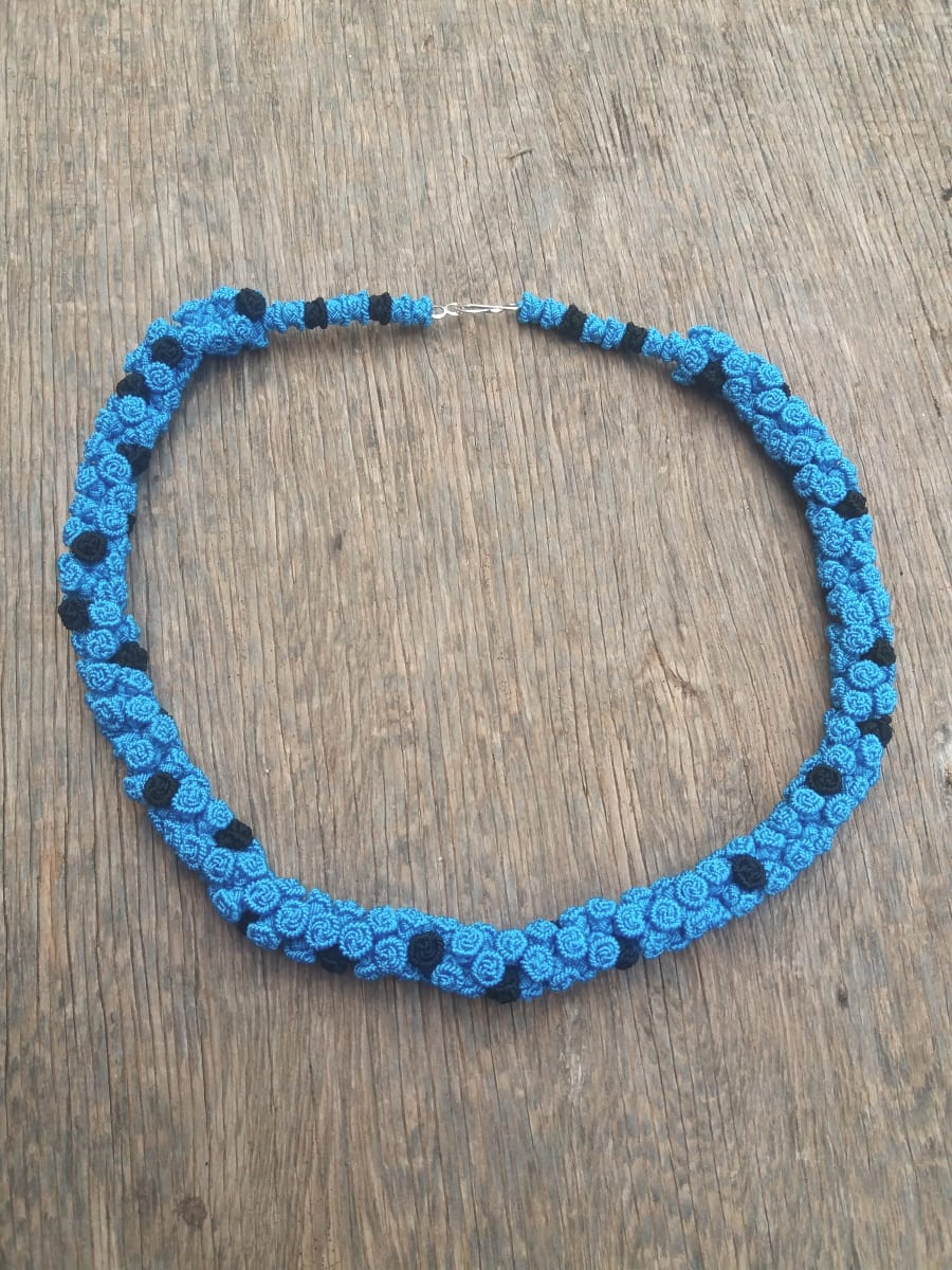 Cluster Necklace  Blue, Black Morocco