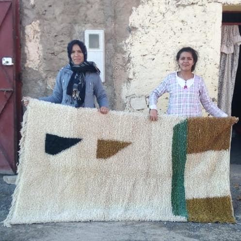 Beni Ourain Wool Warp and Wool Colored Morocco