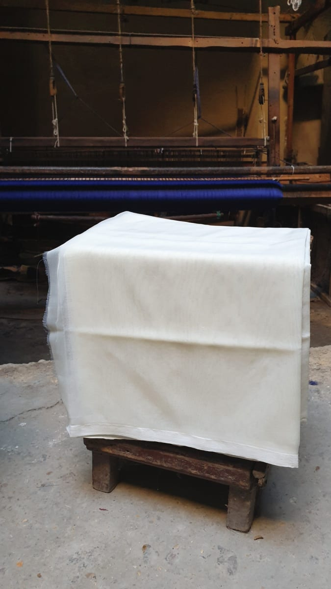 Fabric  White Morocco