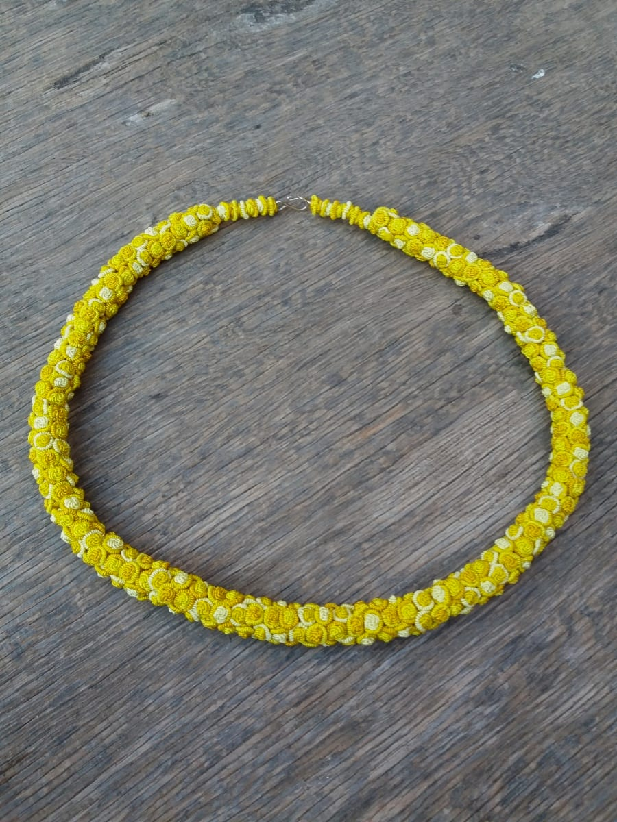 Cluster Necklace  Yellow Morocco