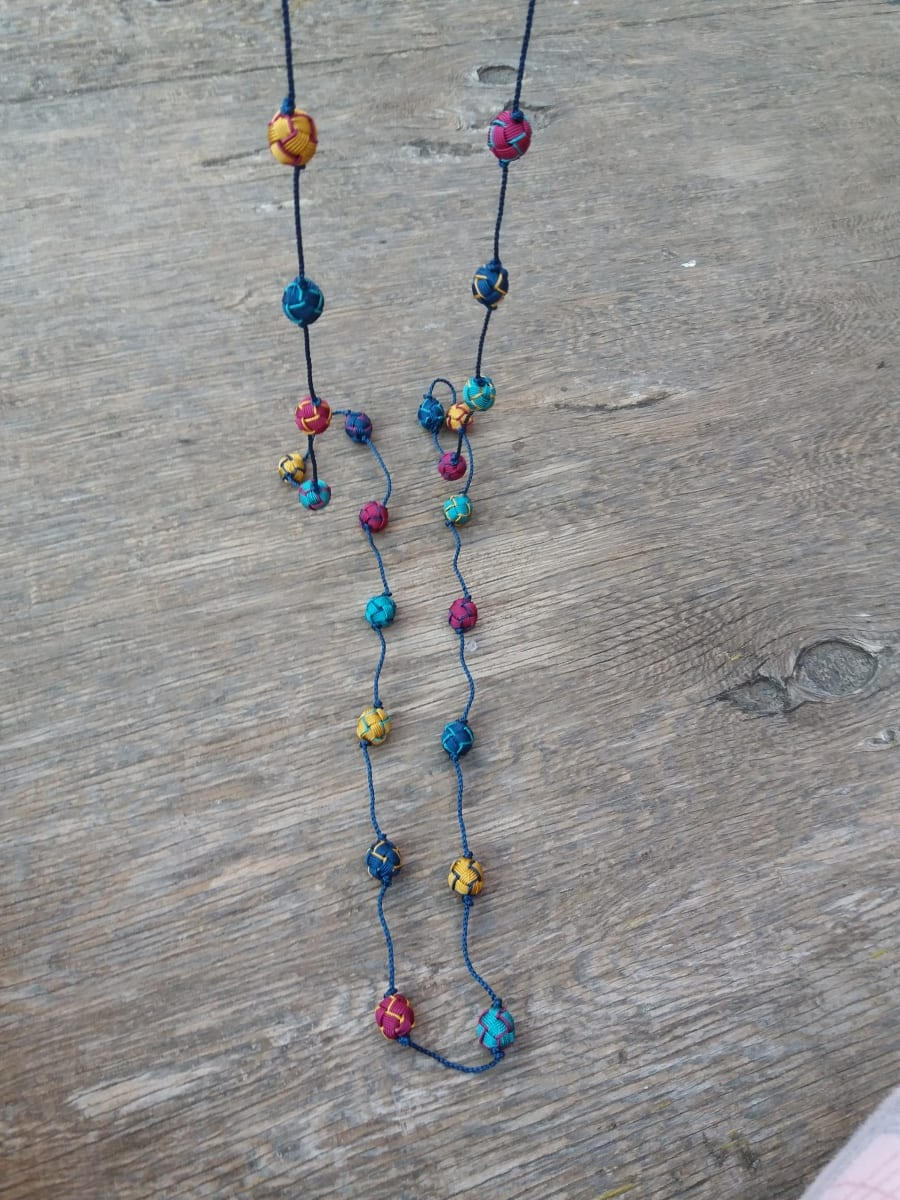 Long Strand Necklace  Colored Morocco