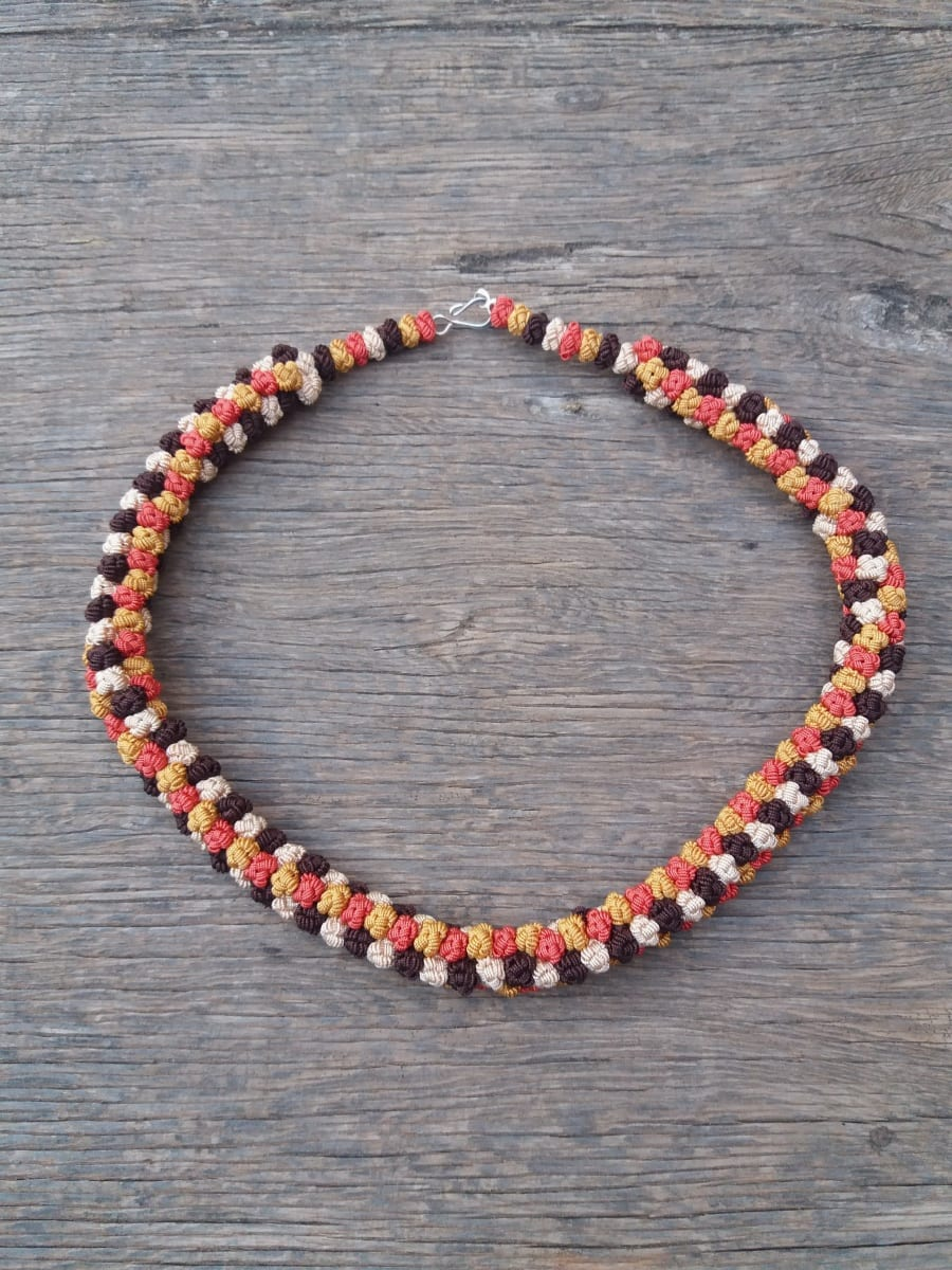 Cluster Necklace  Yellow, Orange Morocco