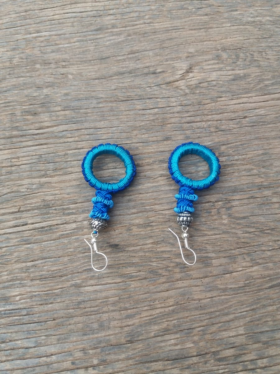 Hoop Earrings  Light Blue, Blue Morocco