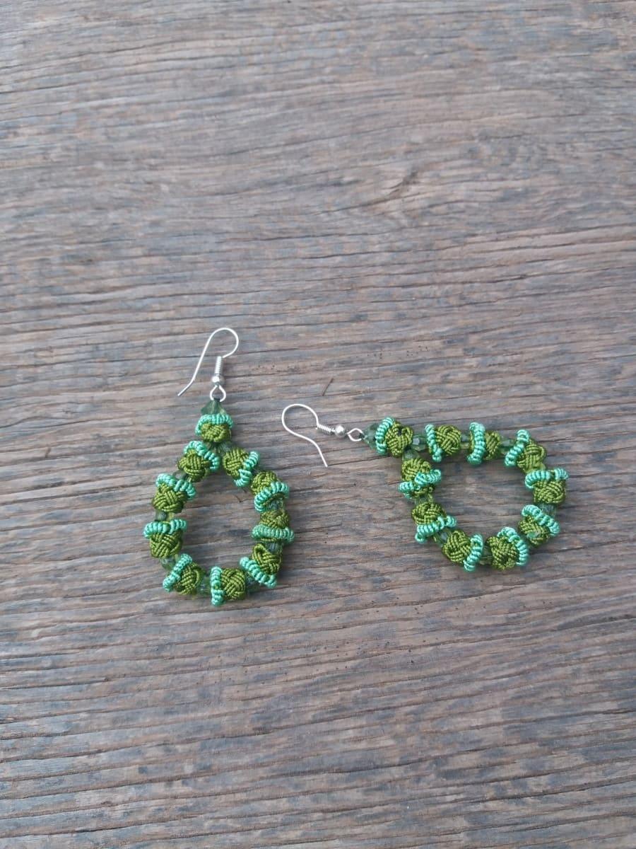 Hoop Earrings  Green Morocco