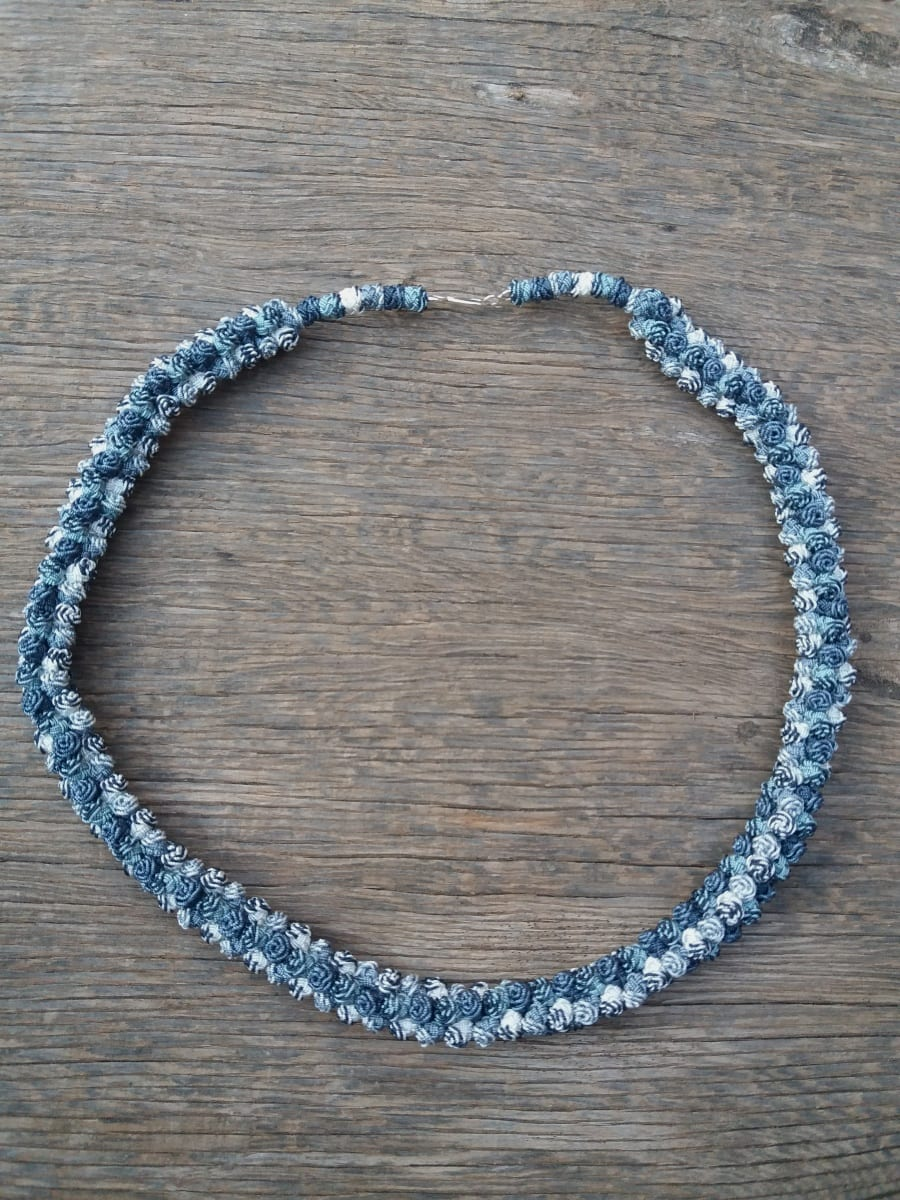 Cluster Necklace  Grey, White Morocco