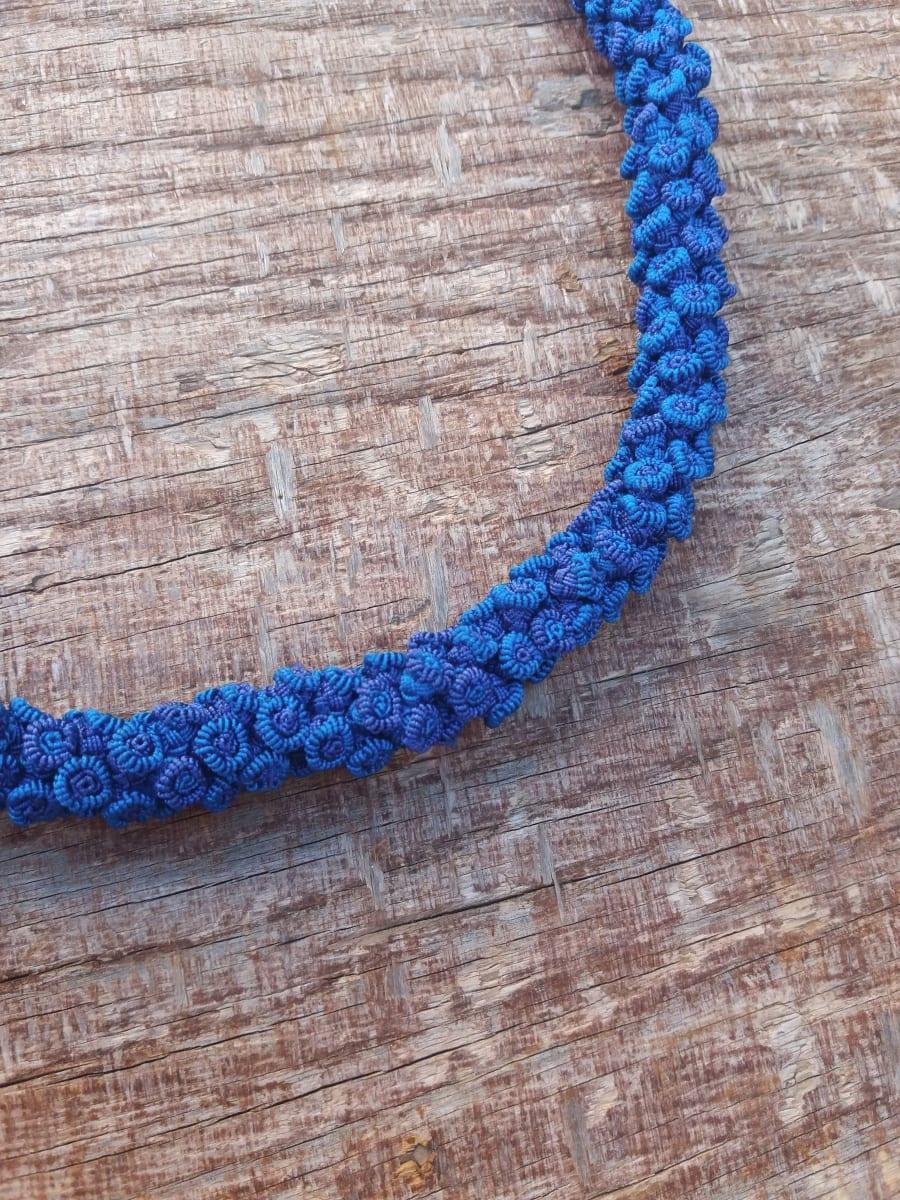 Cluster Necklace  Purple, Blue Morocco