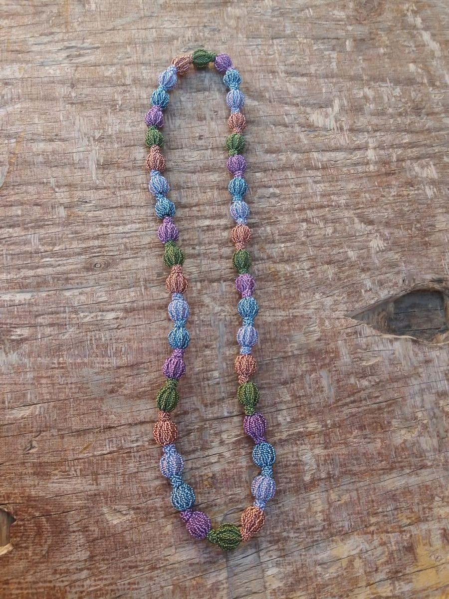 Multistrand Necklace  Colored Morocco