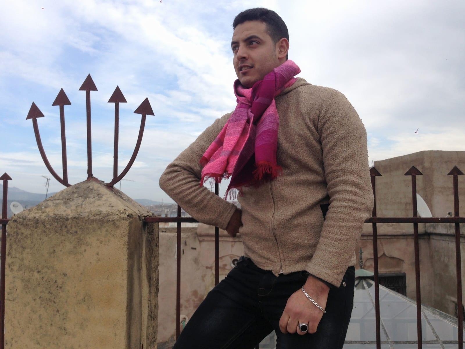Scarf  Purple, Pink Morocco